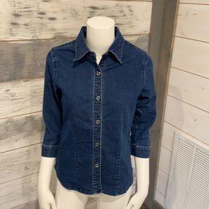Denim button down shirt in excellent condition!